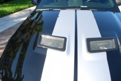 2005-09 Shelby GT500 Hood Vent Inserts Hydro Carbon Fiber Finishing Only