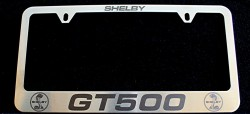 Special Closeout !!! Custom Shelby GT500 Stainless Steel Laser-Etched License plate frame+Free Shipping!