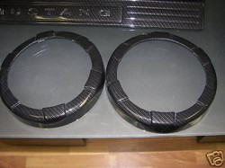 Fits 2010-12 Shelby GT500 Speaker Ring Bezels Hydro Carbon Fiber With Part Included