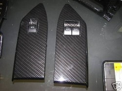 2005-09 Shelby GT500 Window Switch Bezels Hydro Carbon Fiber Finishing Only